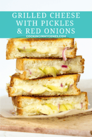 Grilled Cheese with Pickles and Red Onions
