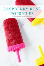 Raspberry Rosé Popsicles