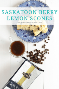 Saskatoon Berry Lemon Scones