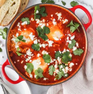 Shakshuka (Baked Eggs in Tomato Sauce)