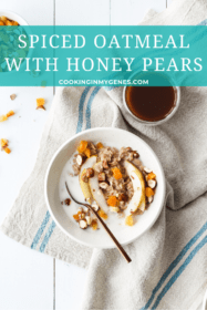 Spiced Oatmeal with Honey Pears