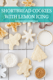 Shortbread Cookies with Lemon Icing