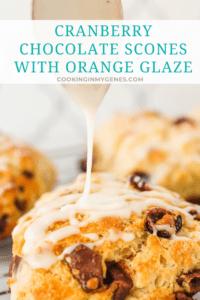 Cranberry Chocolate Scones with Orange Glaze