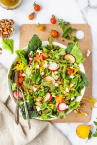 Quick Summer Green Salad