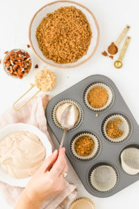No Bake Gingerbread Mini Cheesecakes