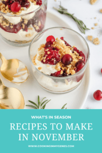 Recipes to Make in November