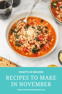 Recipes to Make in November