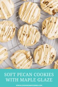 Soft Pecan Cookies with Maple Glaze