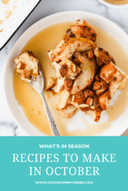 Recipes to make in October